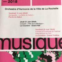Orchestre d'Harmonie de la Ville de La Rochelle - Concerts juin 2018 - LA ROCHELLE