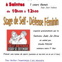 Stage de Self-Défense Féminin - SAINTES